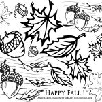 happy fall leaves coloring