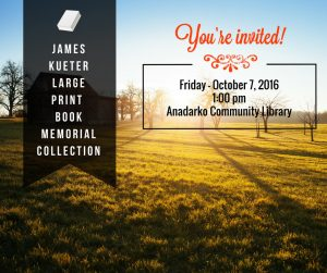 James Kueter Large Print Book Memorial Collection