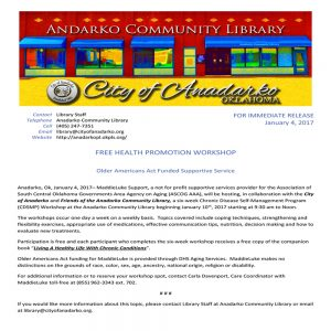 Free Workshop – Chronic Disease Self-Management Program