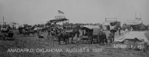 Historic scene from Anadarko, ok August 1901