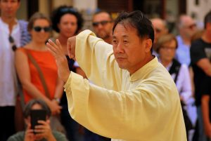 Man doing tai chi